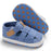 Denim Slip On  Shoes with Hook and Loop Closure for Babies - Blue - shopfils.com