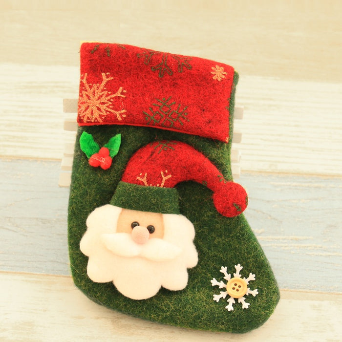Christmas Holiday decorative small stockings - Santa
