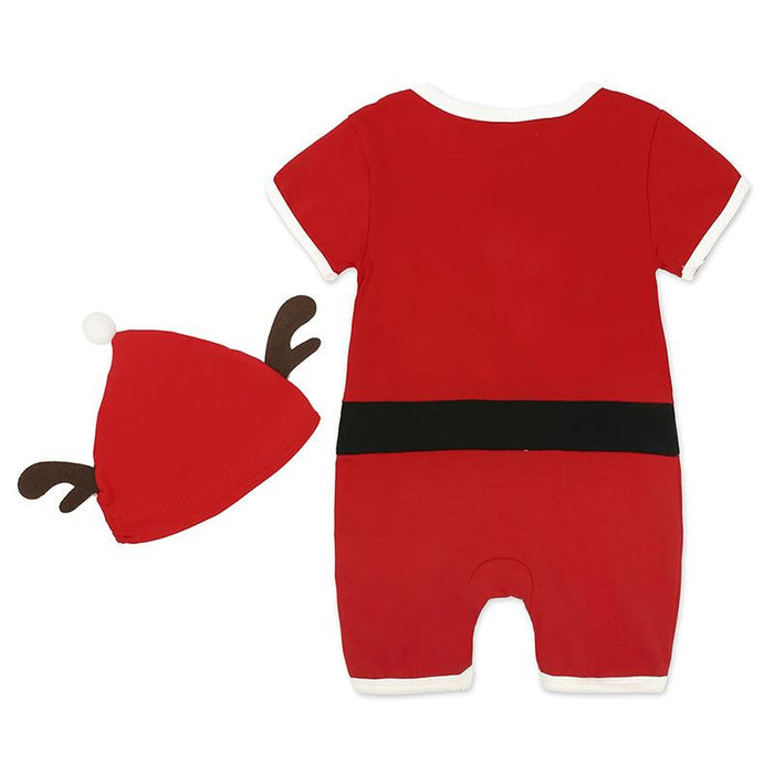 Christmas Roamper with Reindeer Cap for infants - shopfils.com