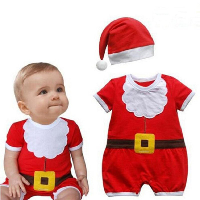 Little Santa Onesie with Cap For Little Ones - shopfils.com