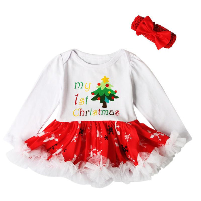 Christmas Baby Tutu Dress - 2 Pcs Set for Baby Girls - shopfils.com
