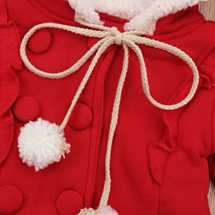 Santas Red Winter Jacket for Little Girls - shopfils.com