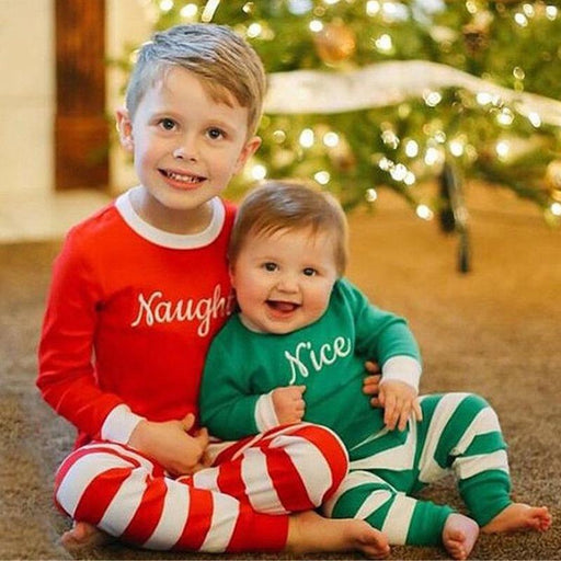 Christmas 2 Pcs Pajama Set - Naughty for Kids - shopfils.com