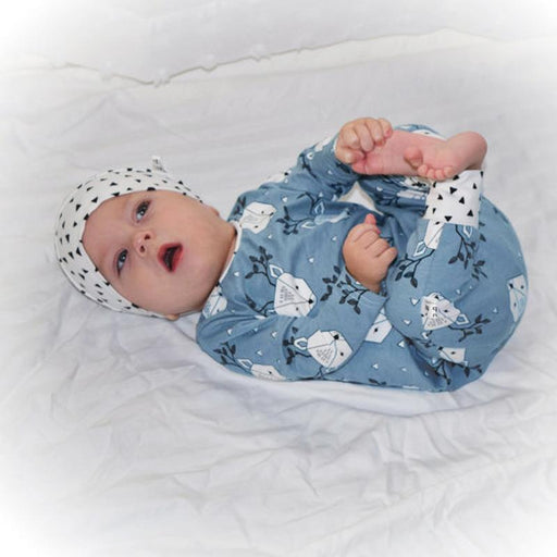 Snowy Reindeer Printed Romper and Cap set for Infants Babies - shopfils.com