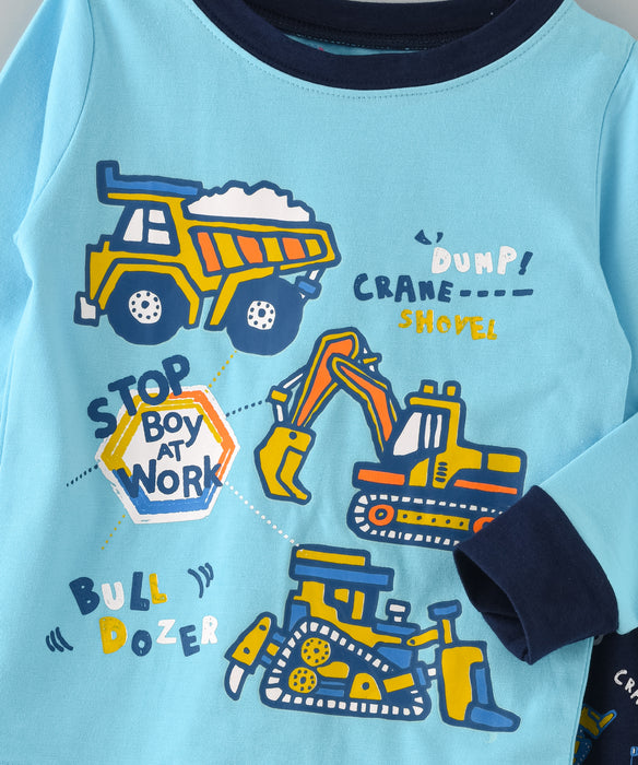 Vehicles Printed Glow in the Dark Nightwear