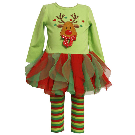 Christmas Tutu Dress with leggings for Girls - shopfils.com