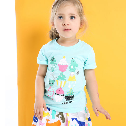 Cute Cup Cakes Printed Tee for Cute Little Girls - shopfils.com