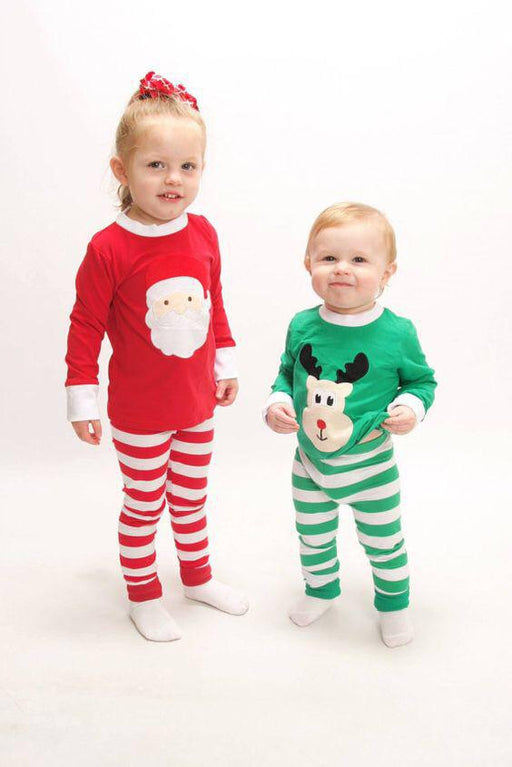 Cute 2pcs printed pajama set for  brother sister set for kids