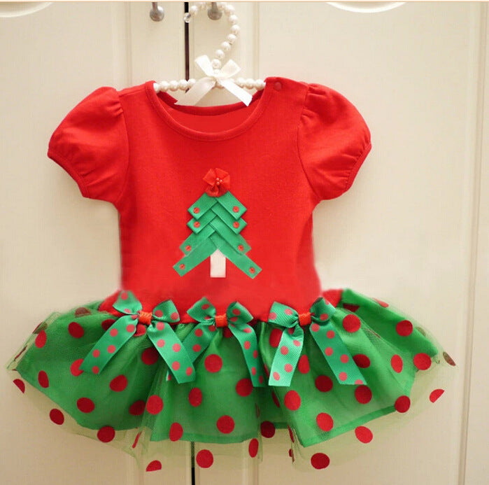 X -Mas Tree Dress for  Little Girls - shopfils.com
