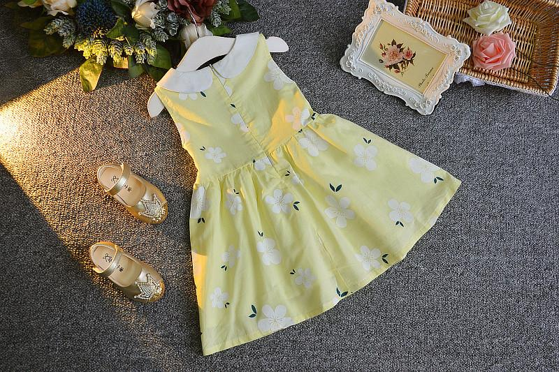 Yellow Floral Summer dress for Girls