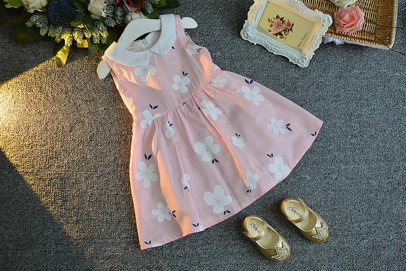 Pink Floral Summer dress for Girls - shopfils.com