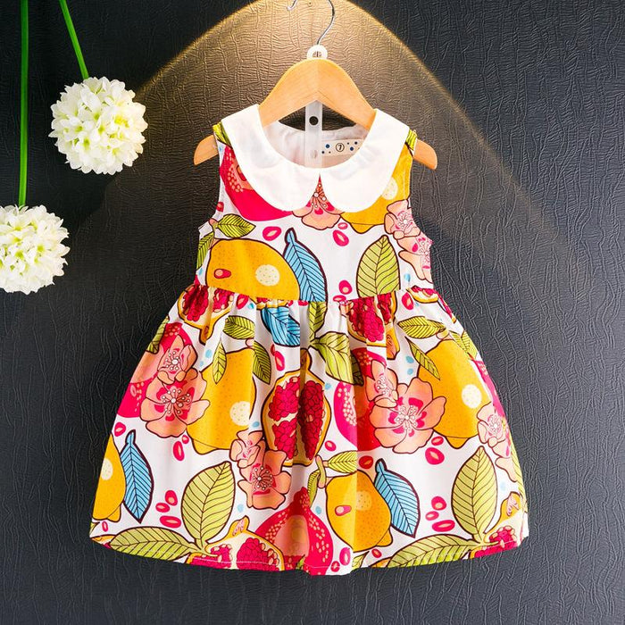 Multicolor Floral Summer Dress for Girls - shopfils.com