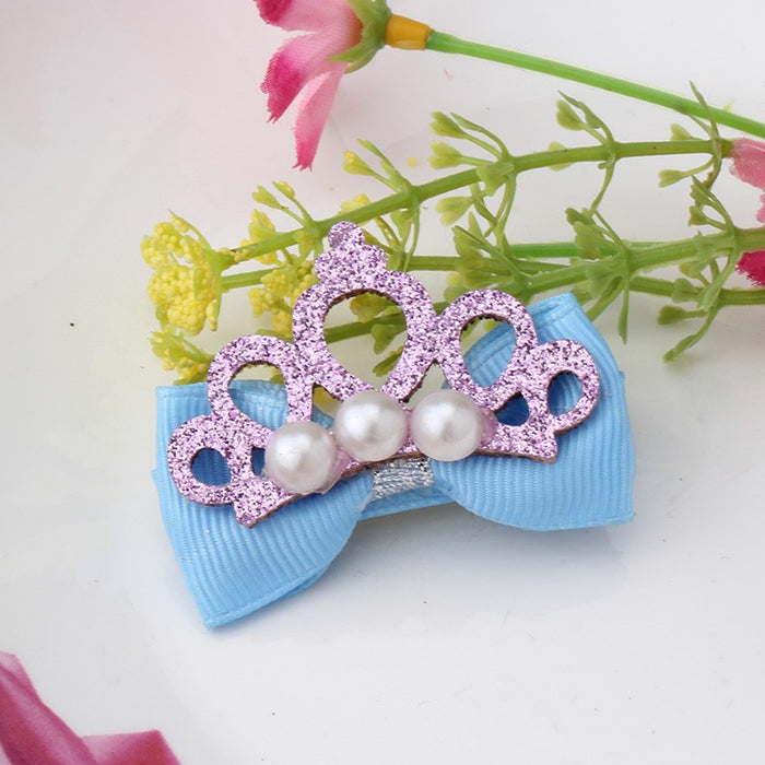 Glittery Crown Hair Clips - shopfils.com