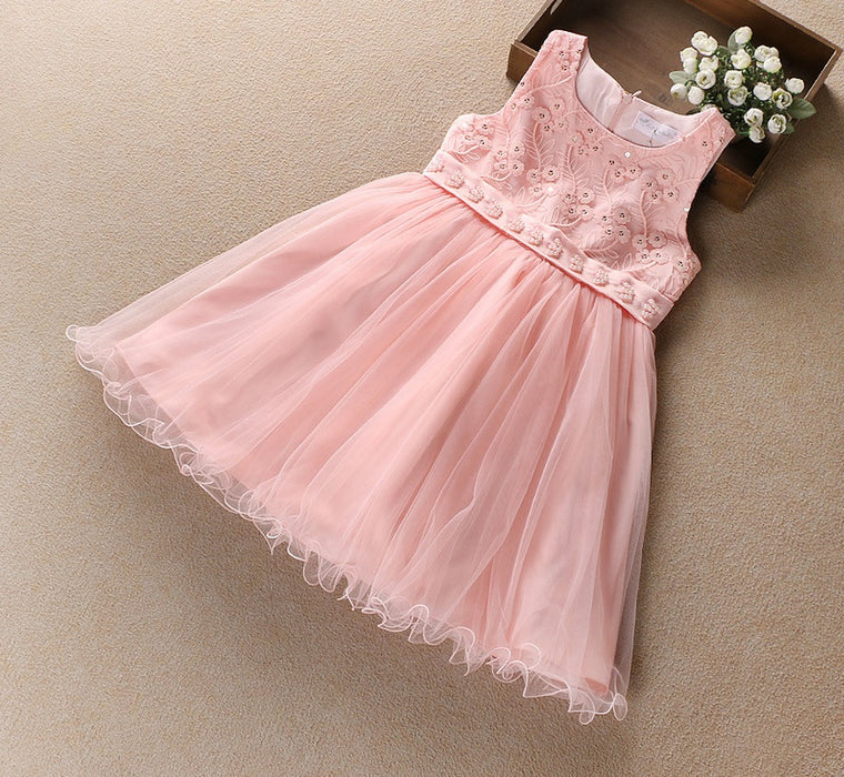 Beautiful Floral  Flared Party Dress for Girls - shopfils.com