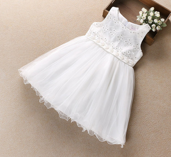 Beautiful Floral  Flared Party Dress for Girls