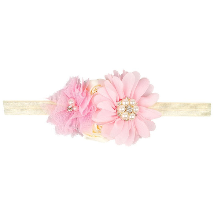 Diamond/ Pearl Flower Headbands - shopfils.com
