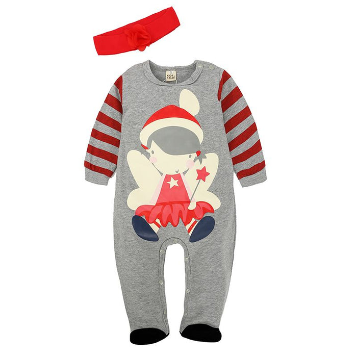 Little Santa Overall with Headband for Baby Girls - shopfils.com