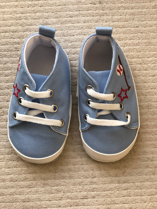 Cute Cotton Prewalker Shoes for Infants -Sky Blue - shopfils.com