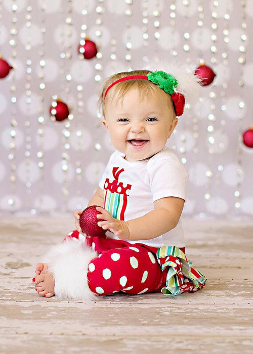 Gift Printed Christmas Onesie, Tutu Skirt with Leg warmer 3 pcs set for Cute little Girls - shopfils.com