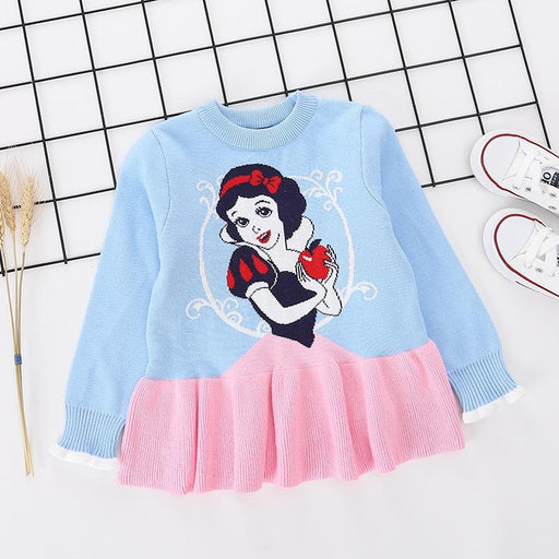 Princess Snow White Printed pure Cotton Soft Sweater for Little Girls - shopfils.com