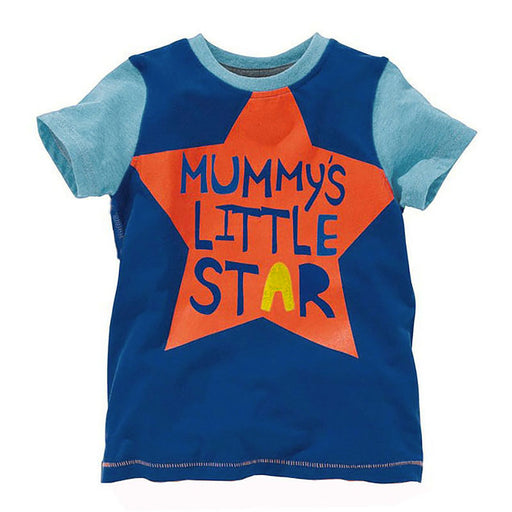 Printed Tee - Mummy's Little Star for Boys - shopfils.com