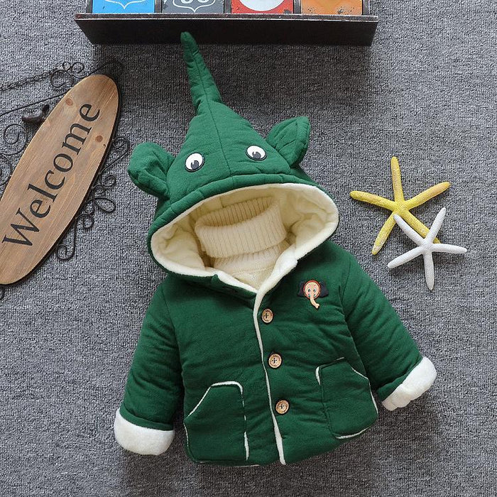 Plush winter Jacket for Infants Green - shopfils.com