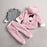 3Pc Winter Plush Jacket Top and Bottom Set for Girls - shopfils.com