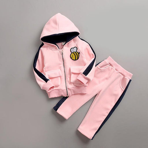 Bee Winter Jacket and Bottom Set for Infants Pink - shopfils.com