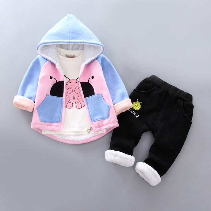 Ladybug Winter Jacket and Bottom Set for Infants - shopfils.com