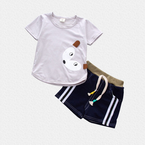 Assorted 2Pc summer Tee and Short Set for Kids - shopfils.com