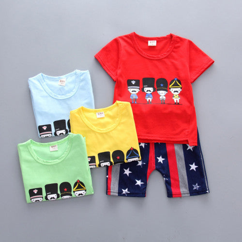 Assorted 2Pc summer Tee and Short Set for Boys