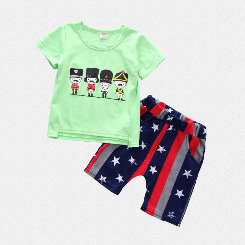 Assorted 2Pc summer Tee and Short Set for Boys - shopfils.com