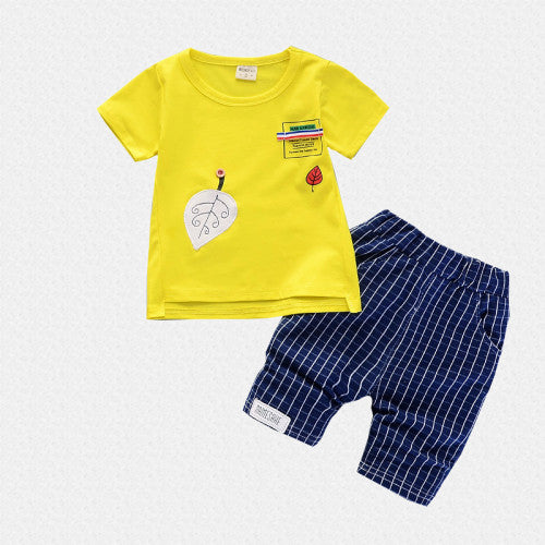 Printed Summer Tee and Short Set for Boys - shopfils.com