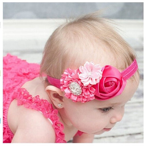 Rose Ruffled Flowers Headbands - shopfils.com