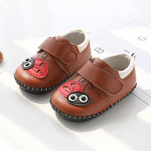 Cute Lady Bug  Shoes for Infants -Brown - shopfils.com