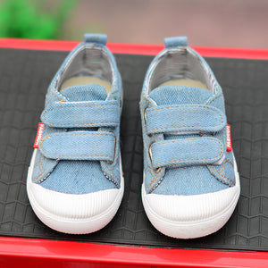 Sky Color Denim Style Shoes for Little Kids