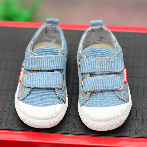 Sky Color Denim Style Shoes for Little Kids - shopfils.com