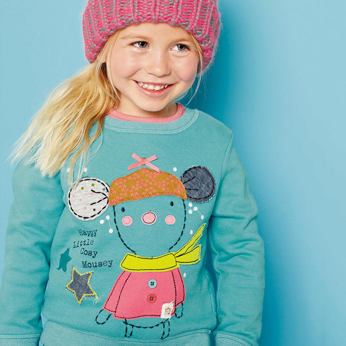 Snowy  Printed Winter Tee for Baby Girls - shopfils.com