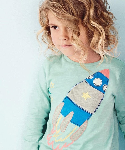 Spaceship Full Sleeve Tee for Girls - shopfils.com