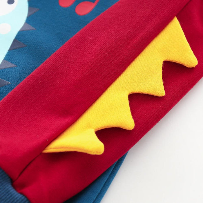Colorful Spike Hoodie Sweat top for Kids Blue - shopfils.com