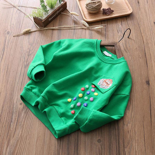 Falling Candy  Winter Pullover Sweat top for boys Green - shopfils.com