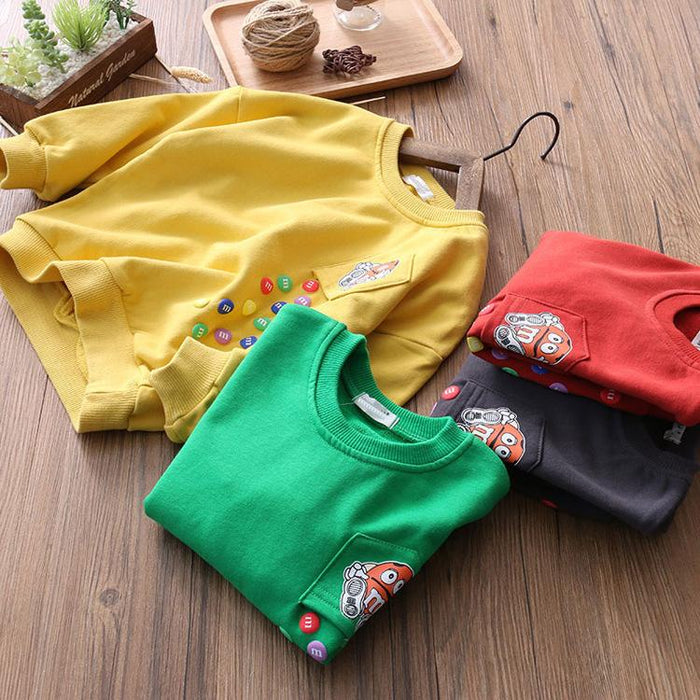 Falling Candy Winter Pullover Sweat top for boys Red - shopfils.com