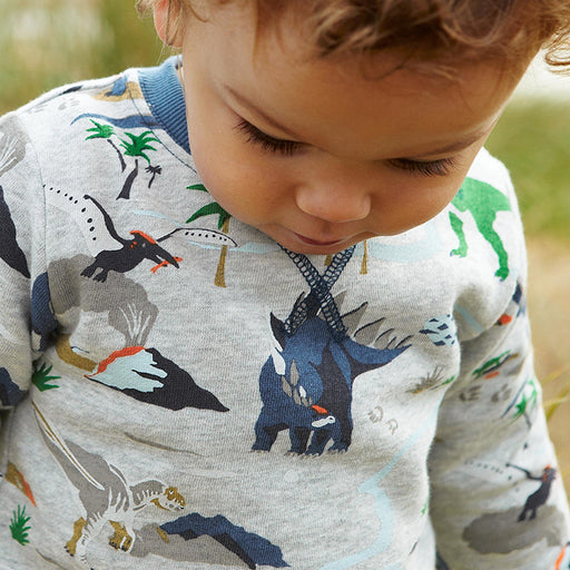 Dino Printed Winter Tee for Boys - shopfils.com