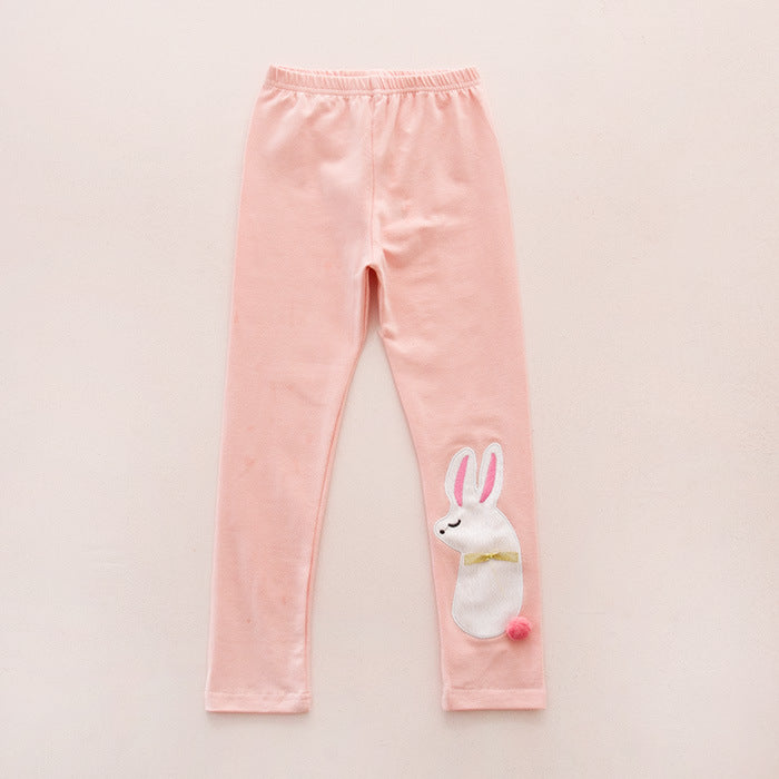 Bunny Printed Stretchable Leggings for Girls - shopfils.com