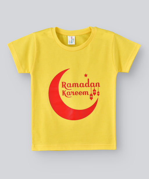 Babyqlo Ramadan Kareem Tshirt for boys and girls - Yellow