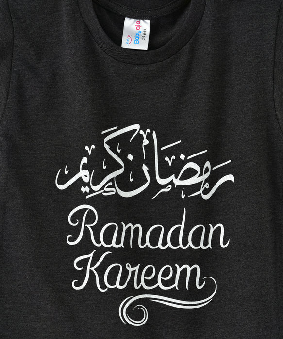 Babyqlo Ramadan Kareem Tshirt for boys and girls - Charcoal Gray