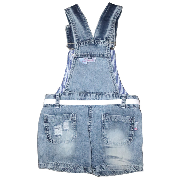 Beautiful Embroidered Flower Dungaree for Baby Girls - shopfils.com