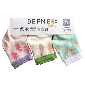 Cute Multi Colored 3 Pairs Pack Of Socks for Infants