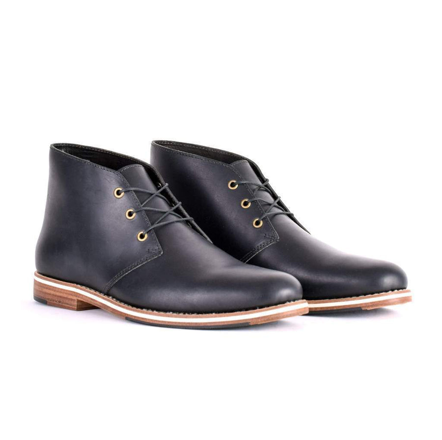 Men's Leather Ankle Boots With Laces