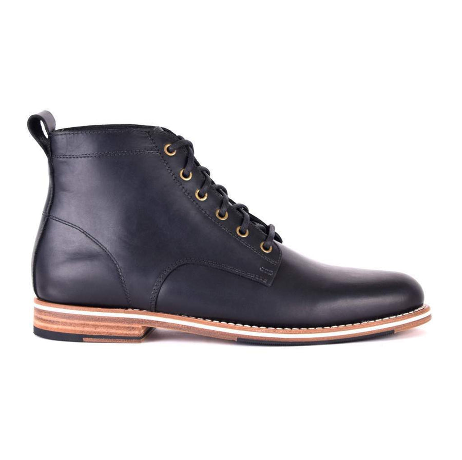 Men's Leather Black Ankle Boots